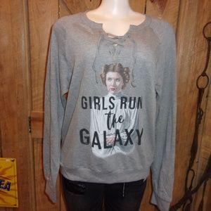 NWT New Disney Star Wars Sweat Shirt Junior L